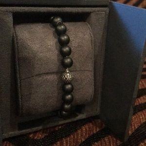 David Yurman Black Diamond beaded bracelet.